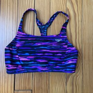 Speedo swim top/sports bra Size 8